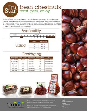 Trucco Chestnuts spec sheet